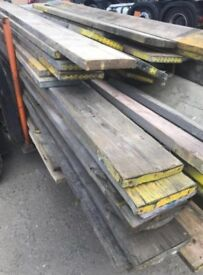 USED scaffold boards various sizes 80p per foot