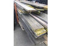 Various size scaffold boards 80p per foot