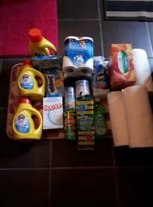 Large lot of cleaning supplies