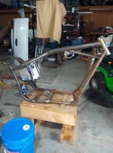 Motorcycle Frame, Swing Arm and Oil Tank