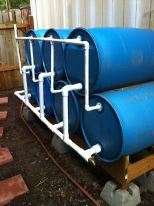 RAIN BARRELS for collection water,