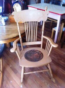 Antique Pressback Rocker