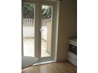 Newly Refurbished, cute medium size, self contained studio flat in Fulham with private back garden