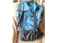 65 Litre Pro Action Navy & Black Backpack - Very Good Condition