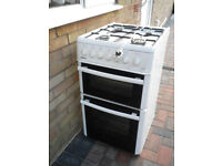 BEKO freestanding gas cooker with double oven.