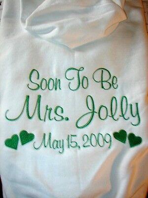 Hoodie Sweatshirt Wedding Zip Bride 3 Lines Future Mrs Sh...