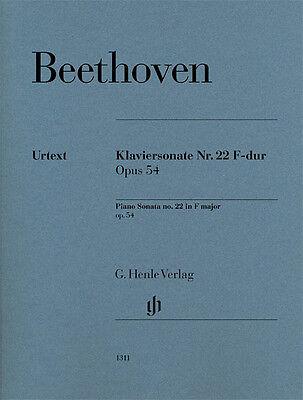 Beethoven Beethoven Piano Sonata No. 22 in F Major Op. 54 Sheet Music  051481311