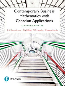Contemporary Business Mathematics with Canadian Application 11th