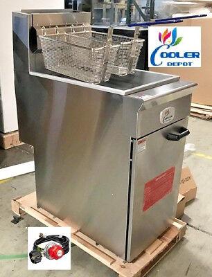 New Commercial 50lb 4 Tube Floor Deep Fryer 120000btuhr Propane Lp Nsf