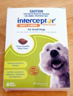 Interceptor Spectrum For Dogs 4-11kg Green 4 chews Hurstville Hurstville Area Preview