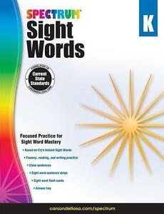 Spectrum Sight Words, Grade K (2014, Taschenbuch)