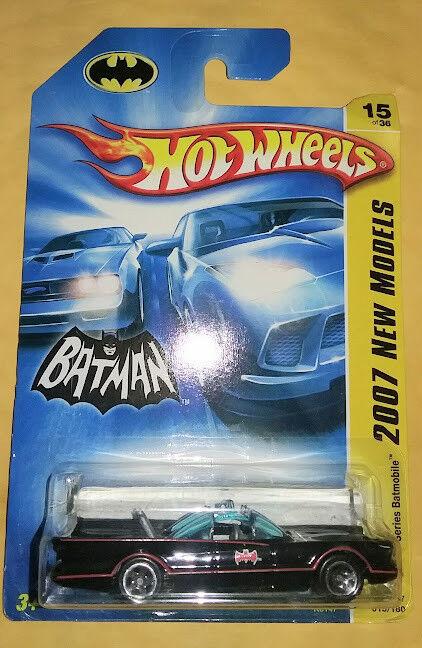 1966 TV Series BATMOBILE Hot Wheels 2007 New Models DC Batman diecast