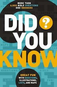 Did You Know?: More Than 6,000 Bible Questions and Answers (2014, Taschenbuch)