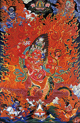 Cosmic Fire 22x30 Tibetan Mandala Print Buddha Asian art