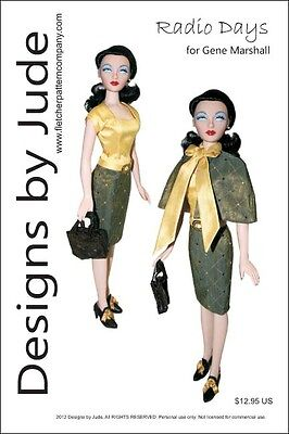 Radio Days Doll Clothes Sewing Pattern For Gene Marshall