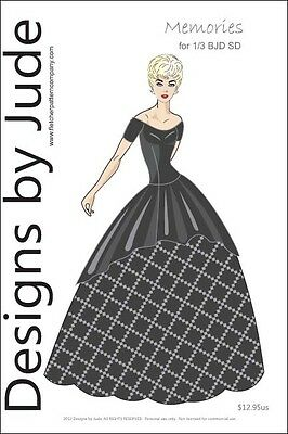 Memories Dress Pattern For 1/3 Bjd Sd Dolls
