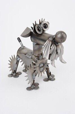 New Handmade Recycled Metal Tiny Schnauzer Dog Sculpture Yardbirds Made in USA (Yardbirds Sculpture)