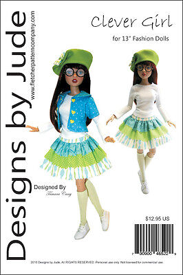 Clever Girl Doll Clothes Sewing Pattern 13