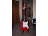 Squier Stratocaster red