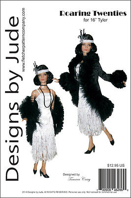 Roaring Twenties Flapper Doll Clothes Sewing Pattern for 16