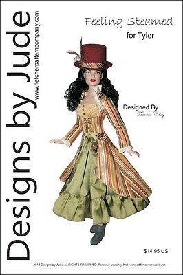 Feeling Gedämpft Steampunk Puppe Kleidung Nähmuster für Tyler Puppen Tonner ()