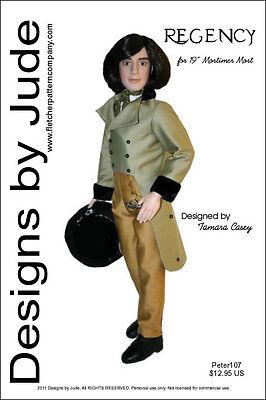 Regency Suit Doll Clothes Sewing Pattern for Mortimer Mort Tonner