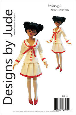 Manga Doll Clothes Sewing Pattern for 13