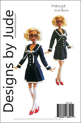 Manga Doll Clothes Sewing Pattern for 16