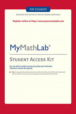 MyMathLab Student Access Kit Code. Please read before buying!
