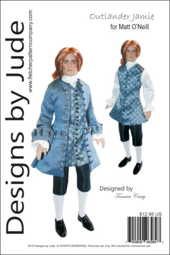 Outlander Jamie Suit Doll Clothes Sewing Pattern for Matt O