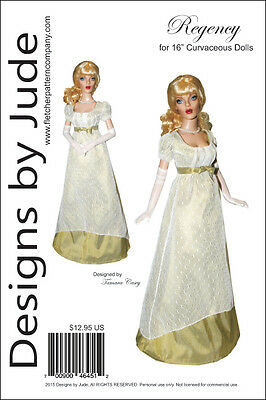 Regency Doll Clothes Sewing Pattern for 16