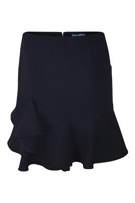 ALEXANDER McQUEEN Harvey Nichols Black Wool Blend Layered Skirt (IT 46)
