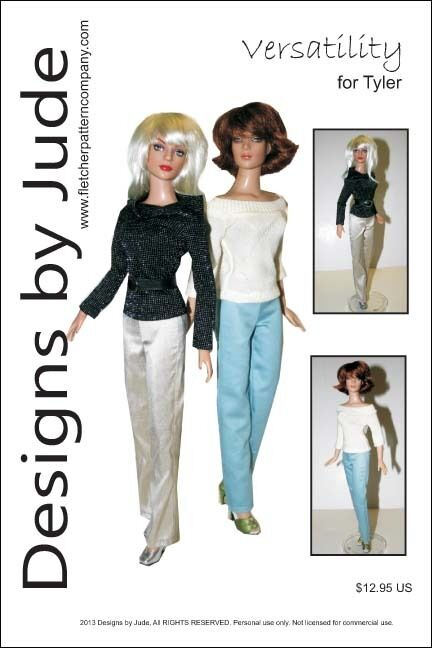 Versatility Tops & Pants Doll Clothes Sewing Pattern for Tyler Tonner