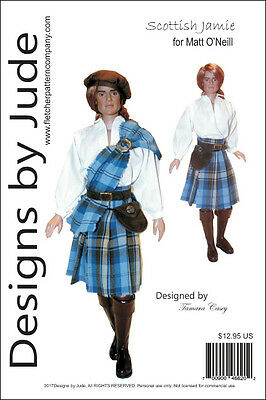 Scottish Jamie Outlander Doll Clothes Sewing Pattern for Matt O'Neill Tonner