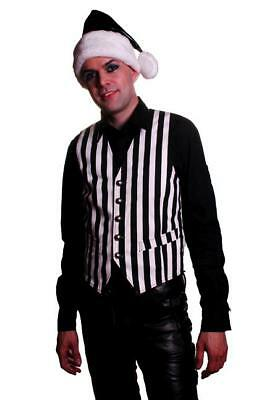 Black And White Santa Hat (PVC BLACK AND WHITE SANTA HAT GOTH INDUSTRIAL NEW WITH)