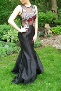 Xscape slimming Long Prom Dress available - generous size 6