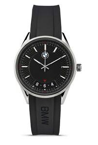Original BMW Herren Armbanduhr Uhr Modern Edelstahl schwarz - Kollektion 2016/18