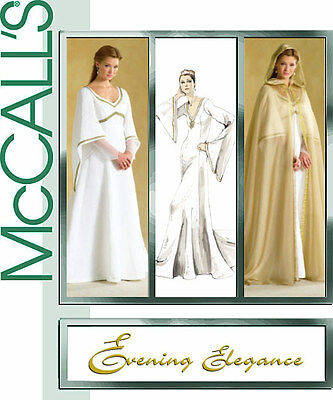 McCalls M4378 SEWING PATTERN 8-14 Medieval Renaissance Wedding Gown Dress OOP