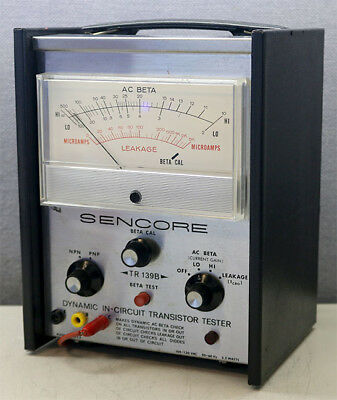 Sencore Tr139b Dynamic In-circuit Transistor Tester