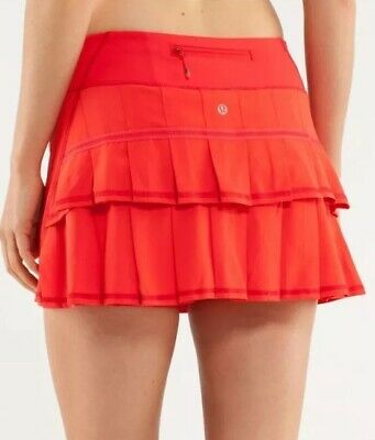 MINT🍀Lululemon sz 6 Run Pace Setter Skirt Skort - Love Red ❤️