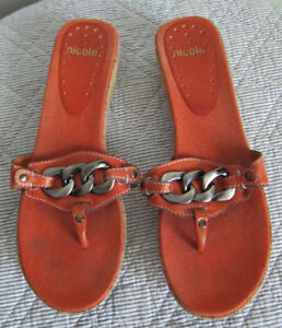 Women's Leather Sandals - size 11M