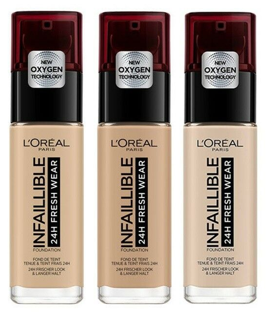 LOREAL INFAILLIBLE 24H FRESH WEAR FOUNDATION GRUNDIERUNG 30 ML