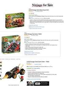 Complete Lego Ninjago, City and other sets