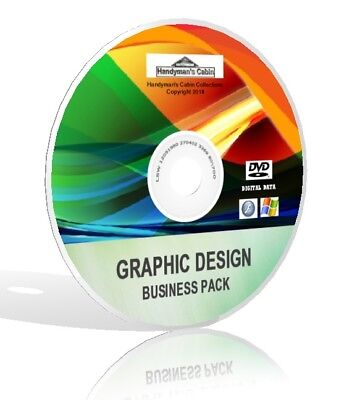 Graphic Design Business Pack Dvd   Photoshop  Gimp  Pixlr  And More