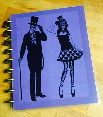 Fall Halloween Skeleton Couple Front/Back Cover Set for use w Happy Planner](Halloween For Couples)