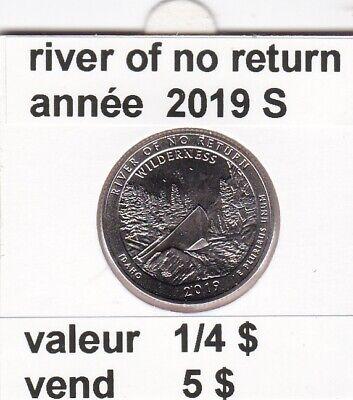 e 3 )pieces de 1/4 dollar river of no returm   2019  S ( wilderness)