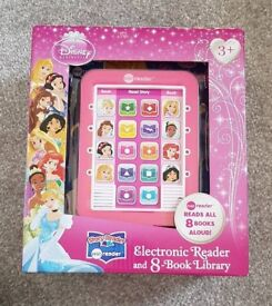 Disney Princess Electronic Reader and 8 book library