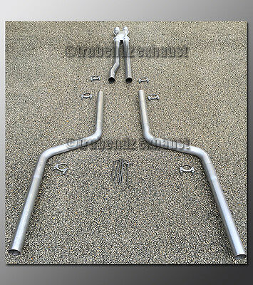 """11-15 Dodge Charger V8 Mandrel Dual Exhaust by TruBendz - 2.50"""" Aluminized"""