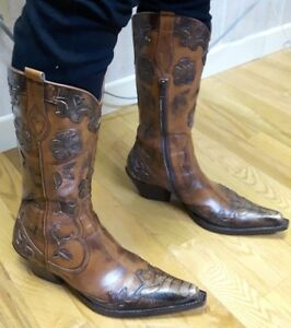 Magnifiques bottes Western « Made in Italy » pour femmes 7-8 US