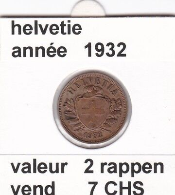S 2) pieces suisse de 2 rappen de 1932     voir description